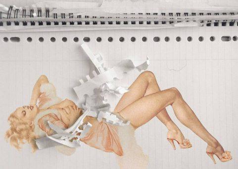 Centerfold, middenpagina voor kwartaaluitgave van kunstenaarsvereniging GBK