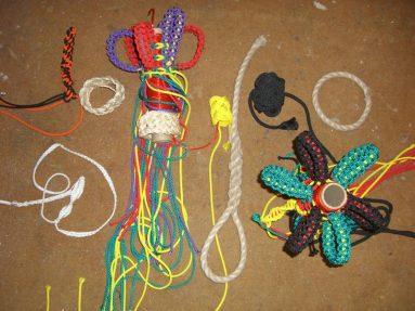 Knots, proef knoopwerken van Turkse knopen en allemanseindjes